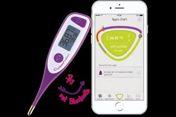 cyclotest mySense Basalthermometer mit App - Anzeige unfruchtbar