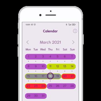 cyclotest mySense calendar