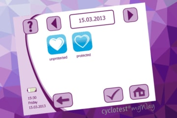 cyclotest myWay allows you to input protected or unprotected sexual intercourse for documenation.