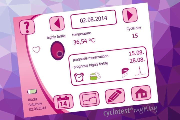 cyclotest myWay Day Chart when highly fertile.