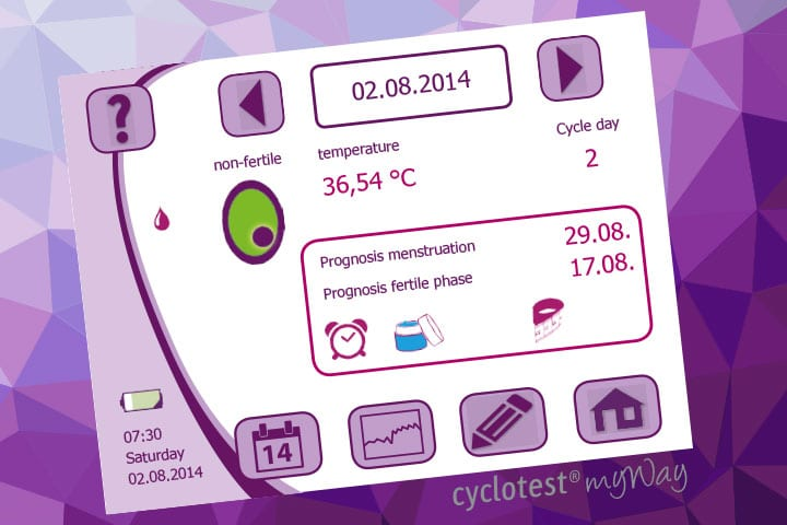 Checking your fertility status via the Day Chart of cyclotest myWay.